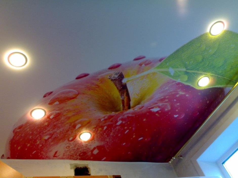 выносливые эффектные, натяжные потолки фотопечать кухня этой статье поговорим